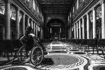 Rome, Roma, spirit, iconographie, black and white, noir et blanc, art, street photography, CarCam