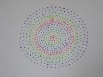 Tropfen-Regenbogen, 88 x 76cm
