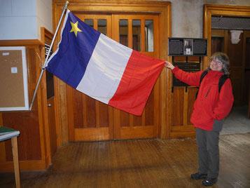 akadische Flagge auf dem Evangeline Trail