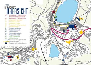 Zufahrt zum Parkhaus Ochsenbühl Sa/So von 08.00 - 19.00 Uhr