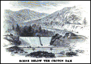 1860 Scene Below The Croton Dam