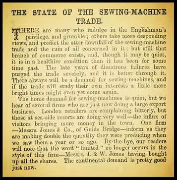 October 1883 The Sewing Machine Gazette