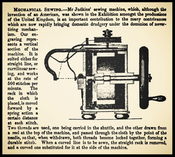 JUDKINS' sewing machine at the 1851 London Exhibition