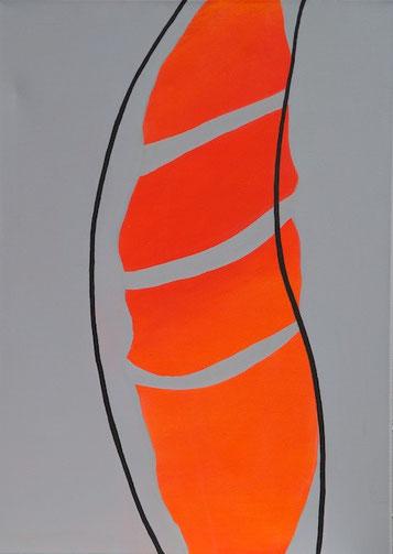 Kokon, Acryl auf Leinwand, 50 x 70 cm