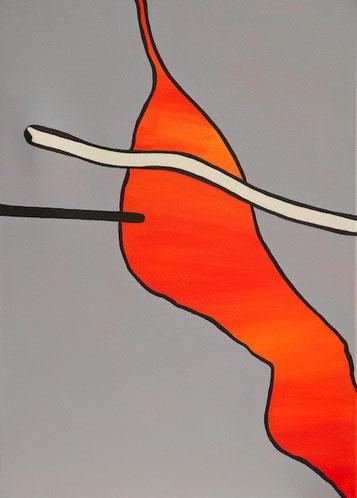 Lava, Acryl auf Leinwand