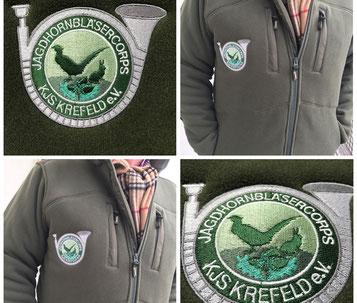 Ob Sport oder Brauchtum. Bekleidung mit Vereinslogo oder Wappen bestickt von Feld GmbH aus Krefeld. www.krawatten-tuecher-schals-werbetextilien.de