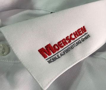 Für einen professionellen Auftritt. Hemden und Blusen mit besticktem Kragen oder Brusttasche von Feld GmbH aus Krefeld. www.krawatten-tuecher-schals-werbetextilien.de