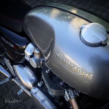 TRIUMPH Thruxton R . Ein Traum ... wird wahr bei Motorrad-Center Dreispitz in Binzen