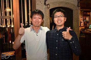 赤狩山幸男プロ(左)& Gさん