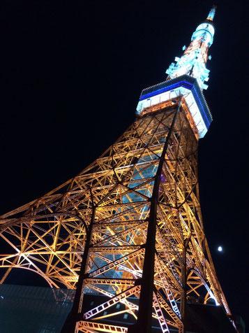 いつ見ても東京タワーのライトアップは綺麗です