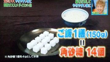 ご飯1膳は角砂糖14個分