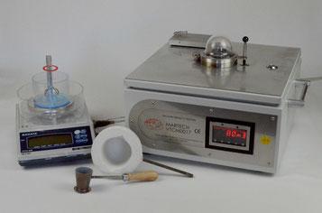 Wasserstoffanalysegerät MARTECH-VTCM 0017 mit Waage Nagata und Zubehör
