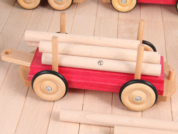 Holzspielzeug Beck Langholzwagen für Holz Eisenbahn