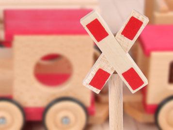 Holzspielzeug Beck Andreaskreuz für Holz Eisenbahn