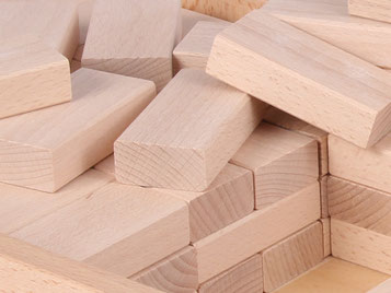 Holzspielzeug-Beck Fröbelbausteine Natur