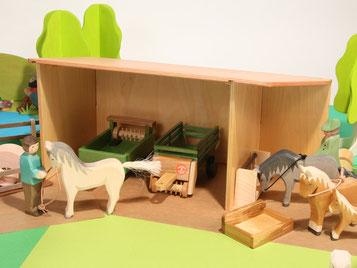 Holzspielzeug-Beck Holz Geräteschuppen