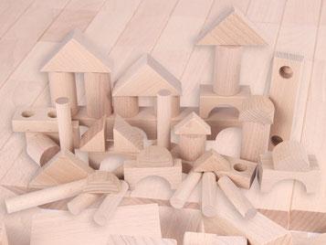Holzspielzeug-Beck Ergänzungsbausteine natur