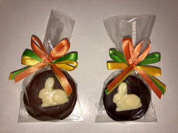 3er Hasen-Taler (Variante Vollmilch- oder Zartbitterschokolade)