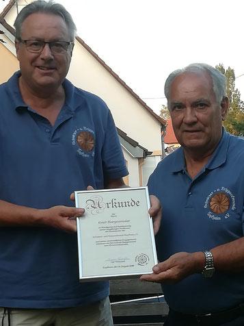 AKTUELLES - Ernennung von Erich Burgetsmaier zum *Ehrenvorsitzenden* am 18. August 2018 - Herzlichen Glückwunsch Erich!