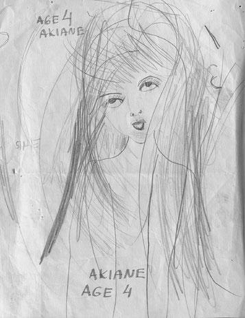 Akiane Kramarik, croquis à 4 ans