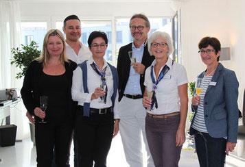 Eröffnungs-Apéro mit dem Team der Venenklinik Bellevue