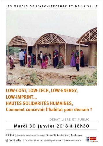 Affiche débat des mardis de l'architecture janvier 2018