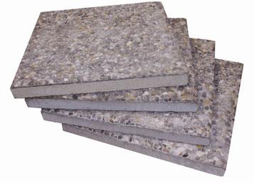 Satz Betonplatten für may Sonnenschirm SCHATTELLO oder ALBATROS Waschbetonplatten 50x50x5 cm bei FINK Sonnenschirme
