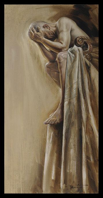 L' Abyme - Huile sur toile 97X195
