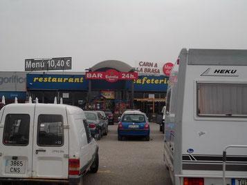 """Unser """"Campingplatz"""" in Lleida"""