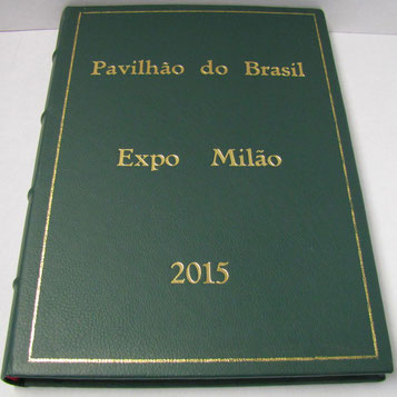 Signature book Pavilhao do Brasil by bookbinder Conti Borbone