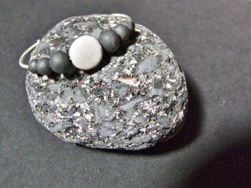 Bracelet classique blanc en ceramique raku