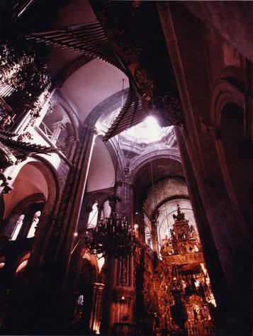 Cathedral interior, Santiago de Compostela, Spain.