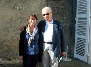 Avec Pierre Michel, le président de la Société Octave Mirbeau
