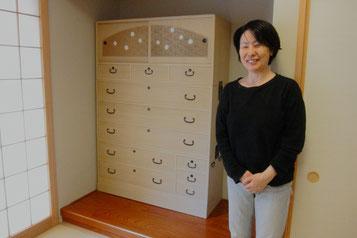 大垣市より夫婦桐箪笥の修理依頼を受け納品してきました。