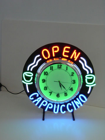 Neon Sign Leuchtschrift Uhr