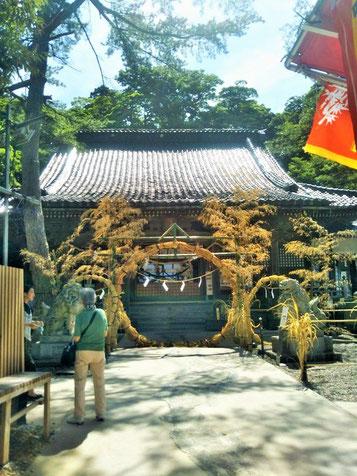 石浦神社 拝殿前の茅の輪