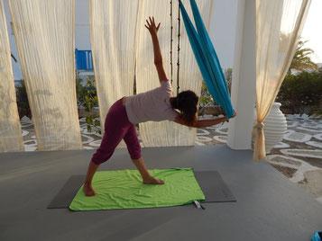 Jyoti yogi stage yoga aérien Grèce 2021