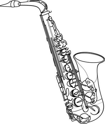 Abbildung eines Saxophones