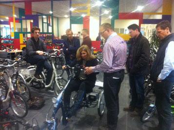Dreirad Schulung bei Van Raam