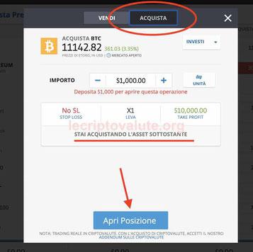 etoro criptovalute bitcoin come comprare