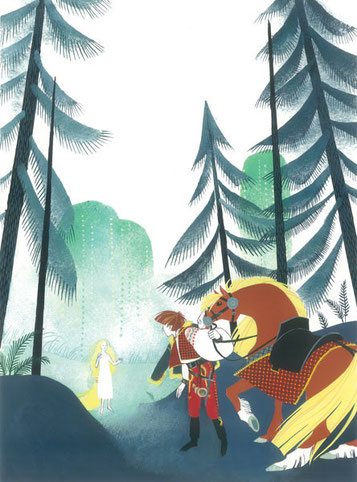 Rusalka-la rencontre-Clémence Meynet illustration