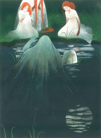 Rusalka-Vodník-Clémence Meynet illustration