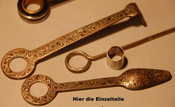 Materialien Kupfer, Silber, Shibuichi