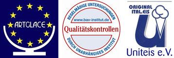 Eis Auszeichnungen von Artglace, BAV-Institut und Uniteis.