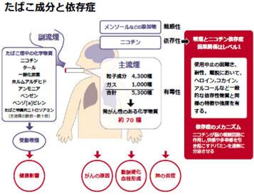 図1.たばこ成分と依存症
