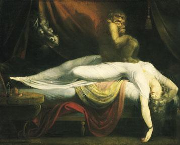 Le Cauchemar, par Johann Heinrich Füssli (version de 1781)