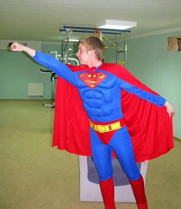 аниматор супермен на детский праздник день рождения ребенка москва на дом детский сад школу