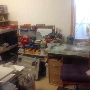 meine kleine Werkstatt zu Hause