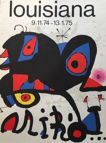JOAN MIRO AFFICHE LITHOGRAPHIQUE,  Louisiana , 1975 à la galerie agnes thiebault