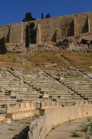 Mathieu Guillochon photographe, voyage, Grèce, Athènes, Acropole, temple, art, architecture, Phidias, sculpture, murailles, théâtre de Dionysoscouleurs.